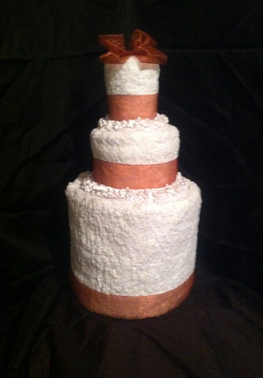 Towel Cake with Ribbon