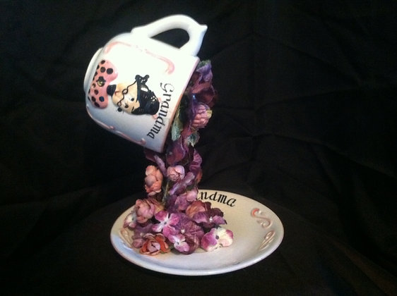 Whimsical Grandma Tea Cup
