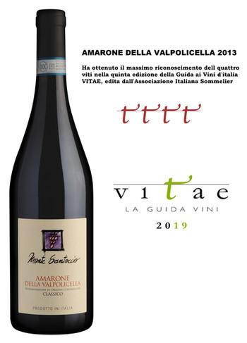Guida Vitae AIS 2019, 4 viti per l'Amarone della Valpolicella Classico Monte Santoccio 2013