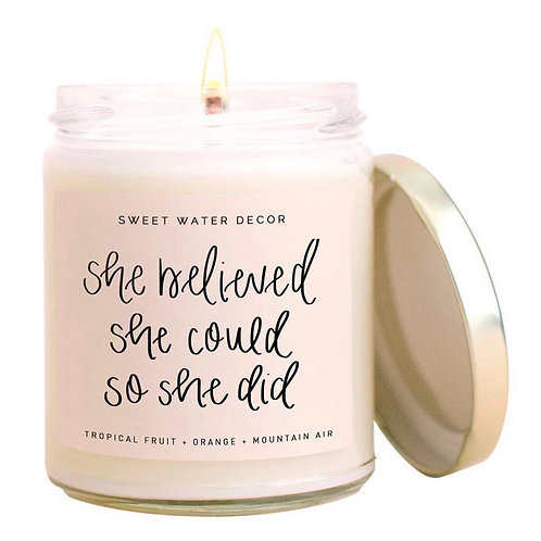 She believed she could... soy candle