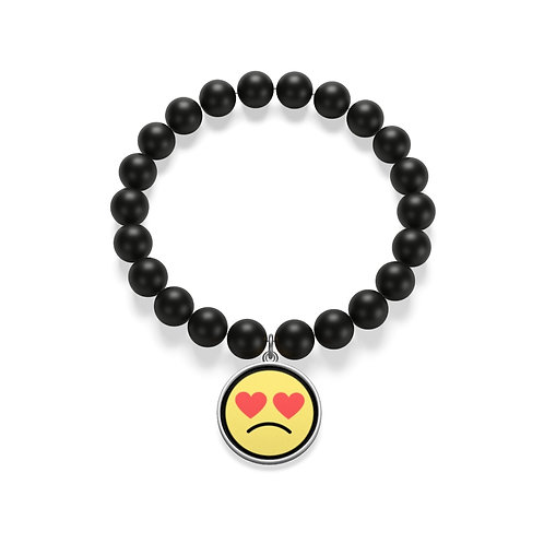 MAL Love Doesn't Hurt Emoji Onyx Bracelet