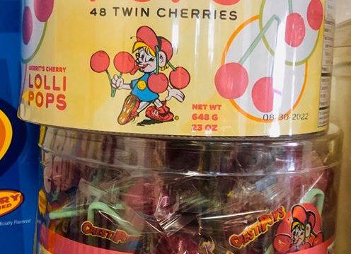 Twin Cherry Lolipops