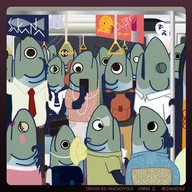 Sardines in a train