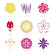Assorted Flower Logos