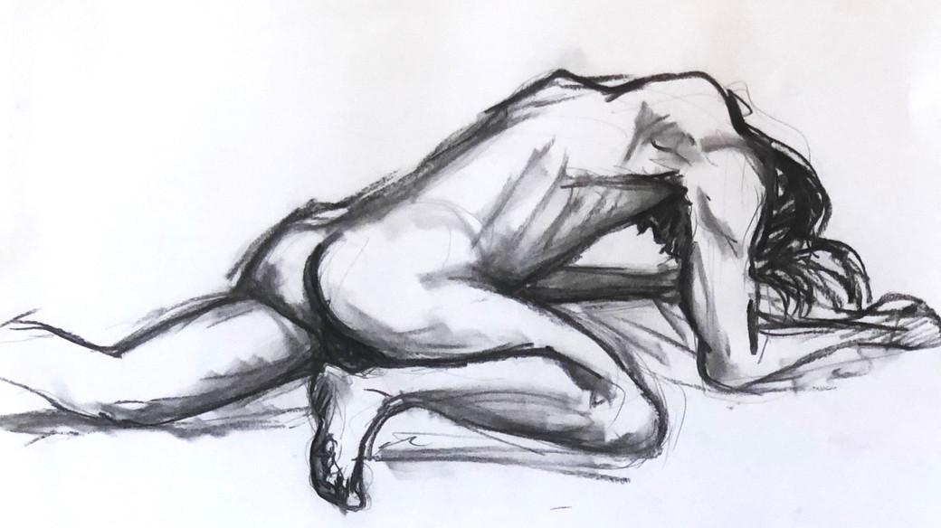 Butoh Dancer Fallen