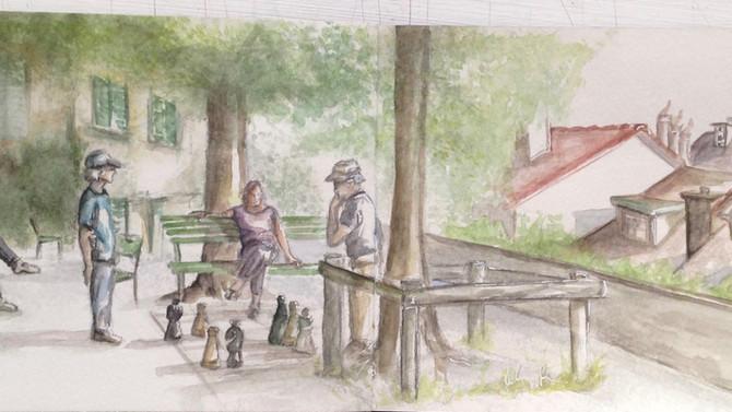 Sketching / Lindenhof