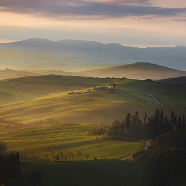 Very First Light in Tuscany