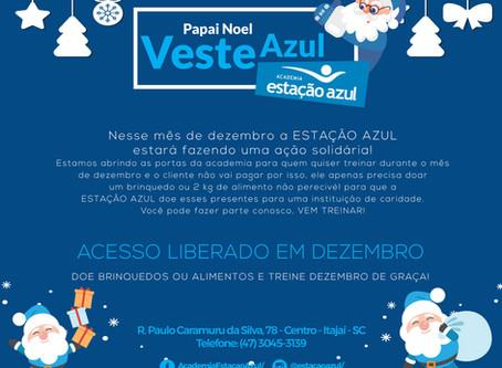 Em dezembro Papai Noel Veste Azul...