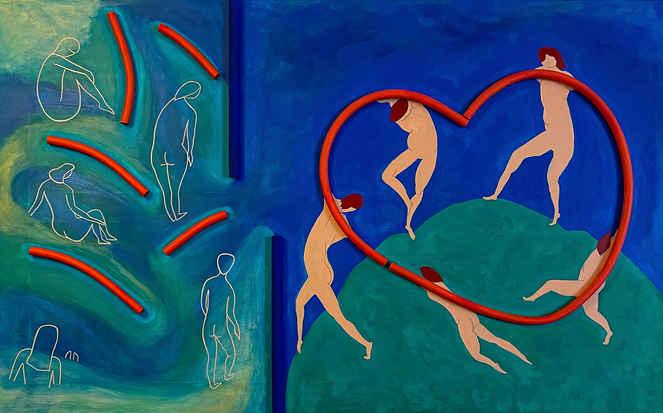 Understanding of happiness, Hommage à Matisse, 2021