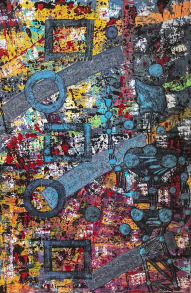 tableau-art-abstrait-follow-the-symbols-abraham-aronovitch.jpg