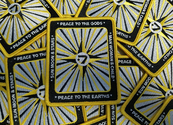 Universal Flag Patch - Peace To The Gods & Earths  (rectangle) $10.00