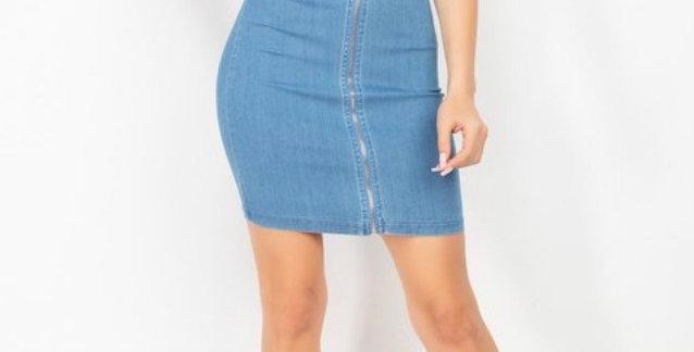 Her Denim Skirt Set