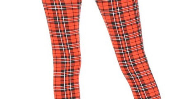 Her Stretchy Plaid Pants