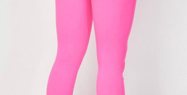 Her Stretchy Pants Neon Pink