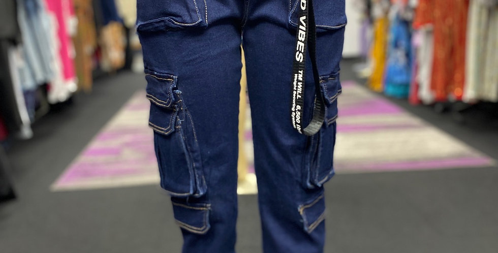 Cargo Denim Jogger Pants