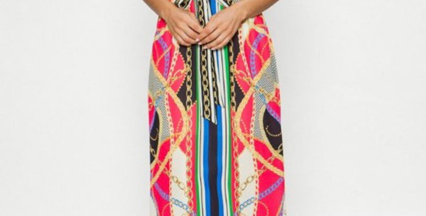 Print Sundress w/belt