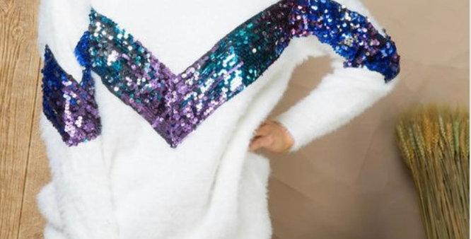 Lighting Sequin Sweater