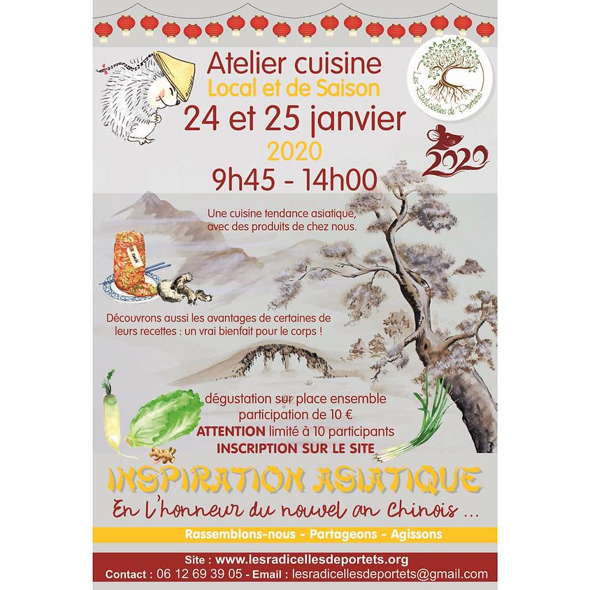 Atelier CUISINE vend 24/01 - INSPIRATION ASIATIQUE