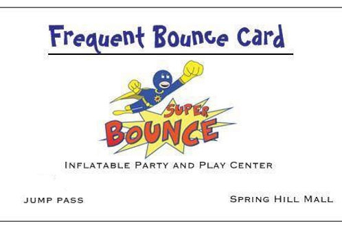 Frequent Bounce Card, 12 Jump Pass