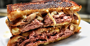 Melted Gouda Roast Beef Sandwich