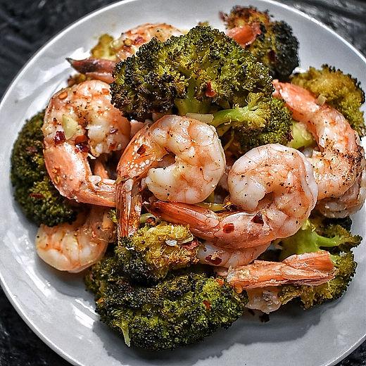 Sheet Pan Sesame Shrimp & Broccoli