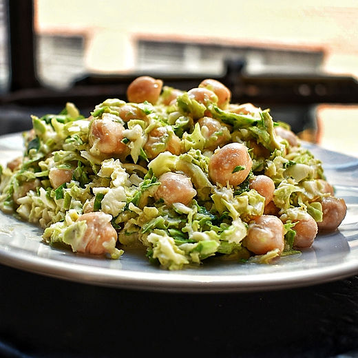 Chickpea & Brussels Sprout Salad