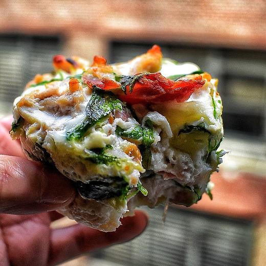 Bacon, Chicken, Egg Muffins