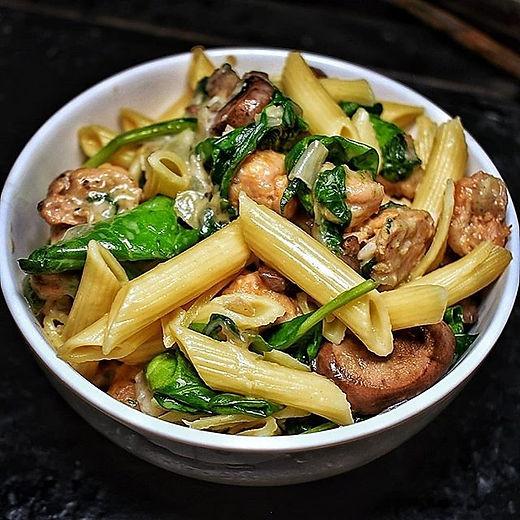 Chicken Sausage & Mushroom Penne