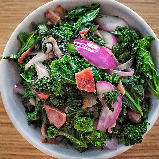 Sauteed Kale w/Bacon