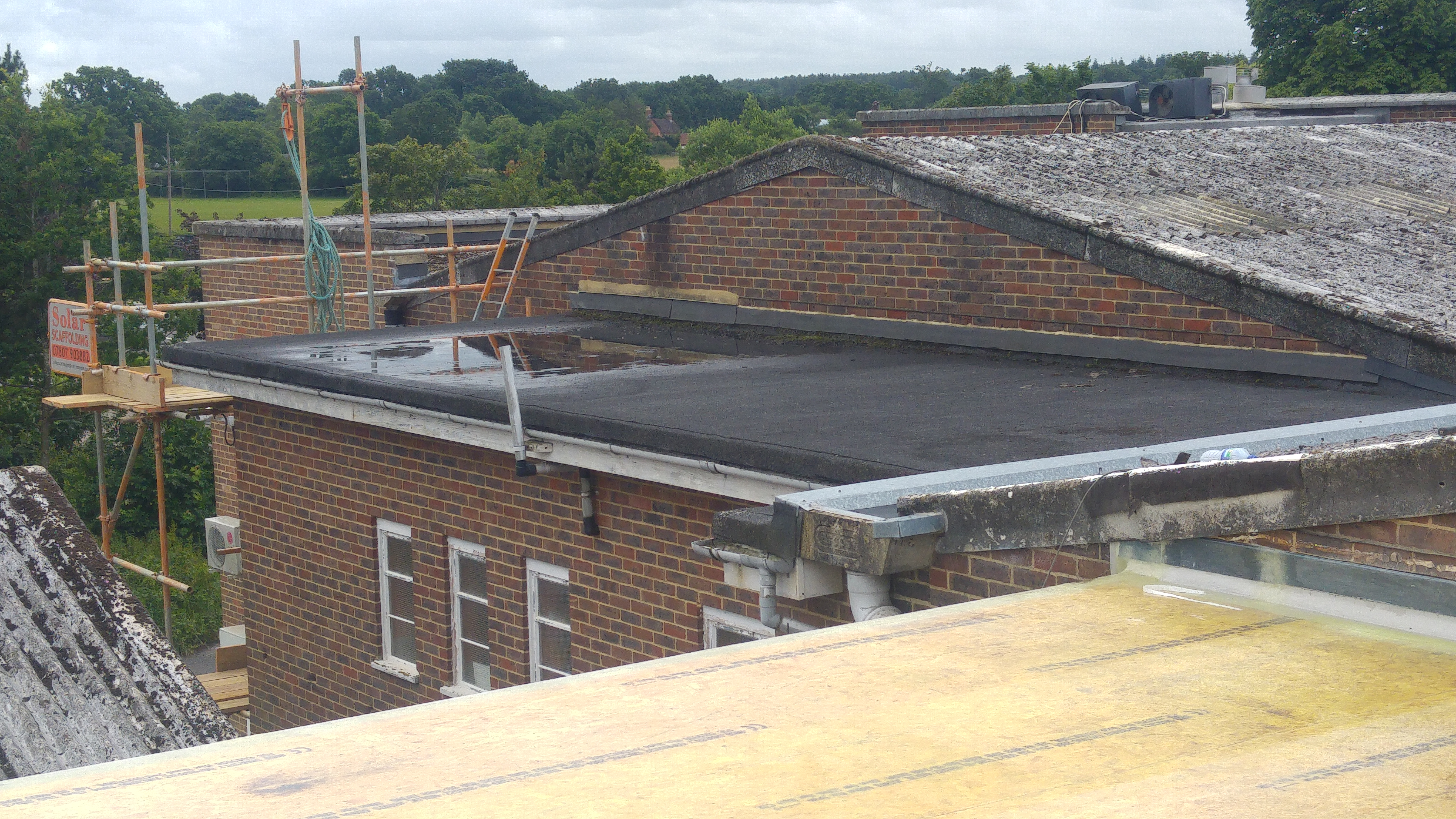 Factory roof before
