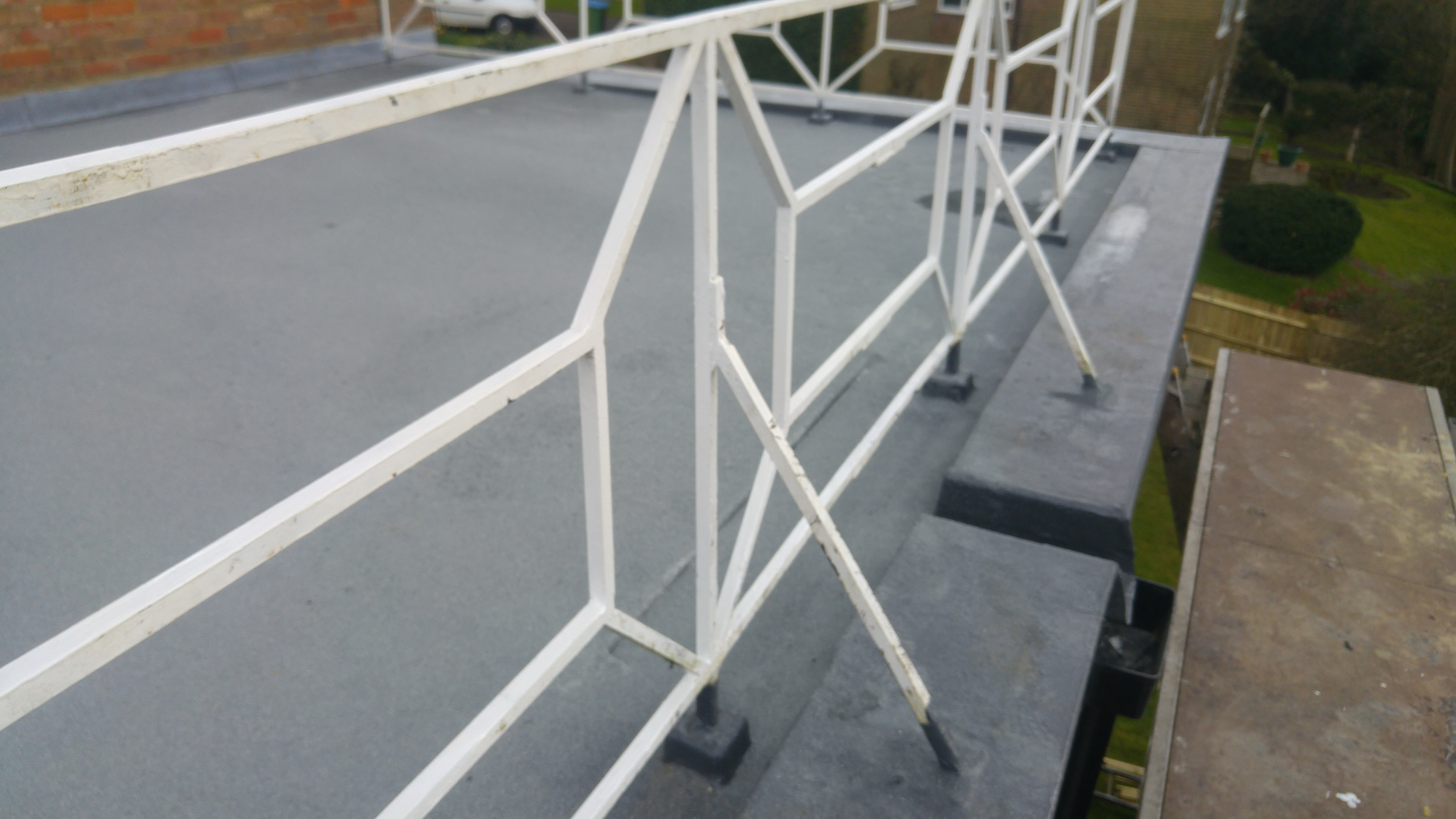 Balcony top coated