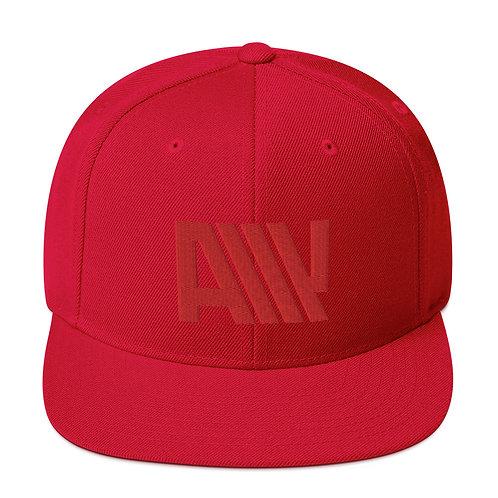 Lean Back Monochromatic Red Snapback Hat