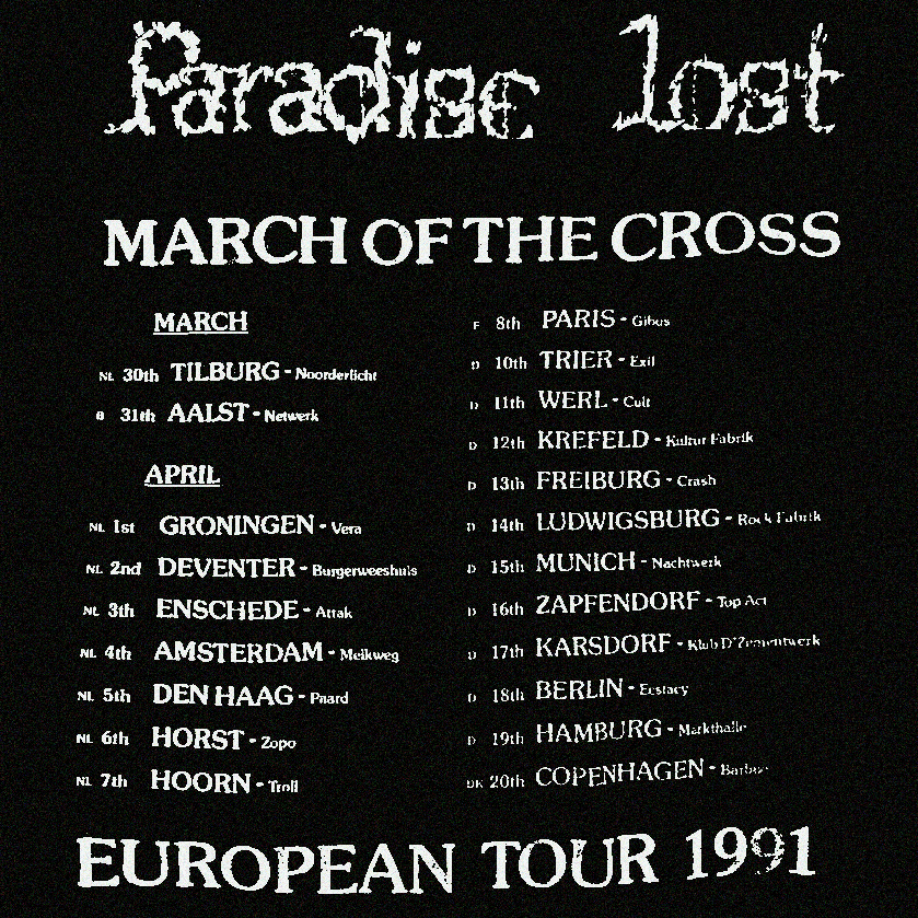 March of the Cross Tour Paradise Lost