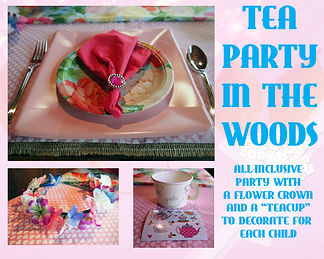 Tea Party in the woods all-inclusive birthday party