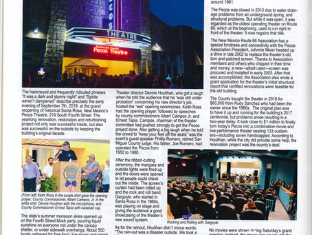 Pecos Theatre Featured In The New Mexico Magazine