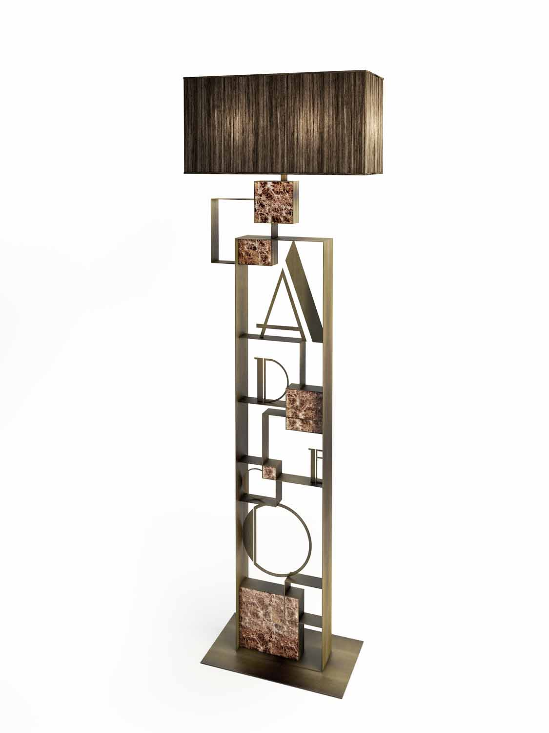 A DECO FLOOR LAMP