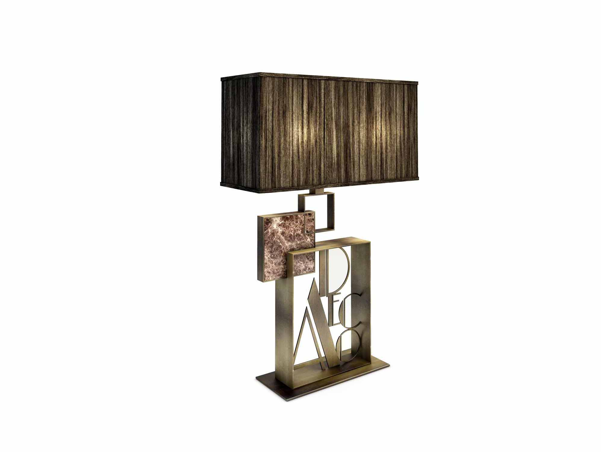 A DECO TABLE LAMP