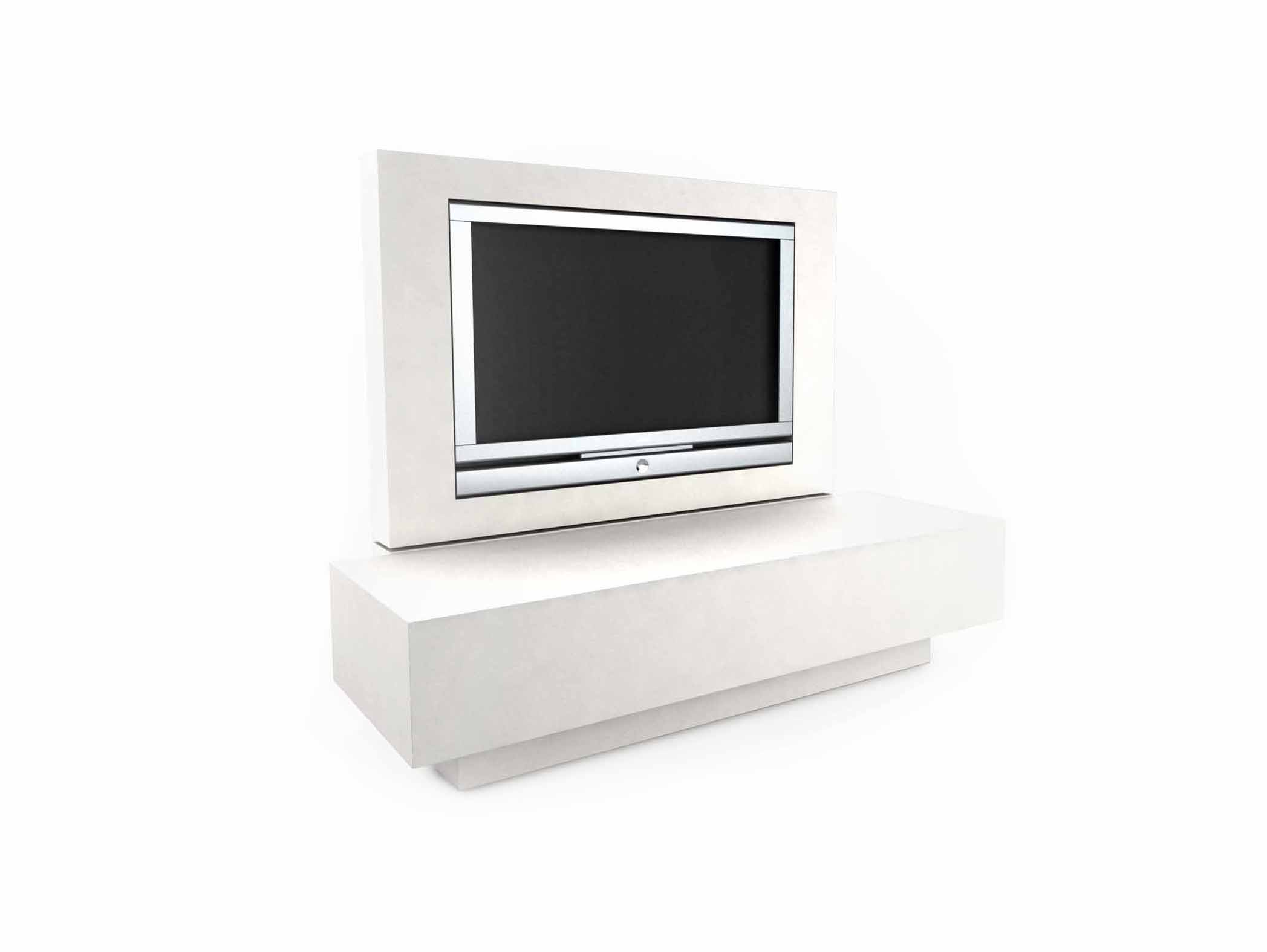 WHITE TV STORAGE