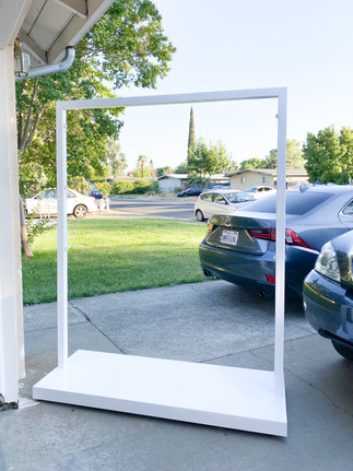 White Display Stand