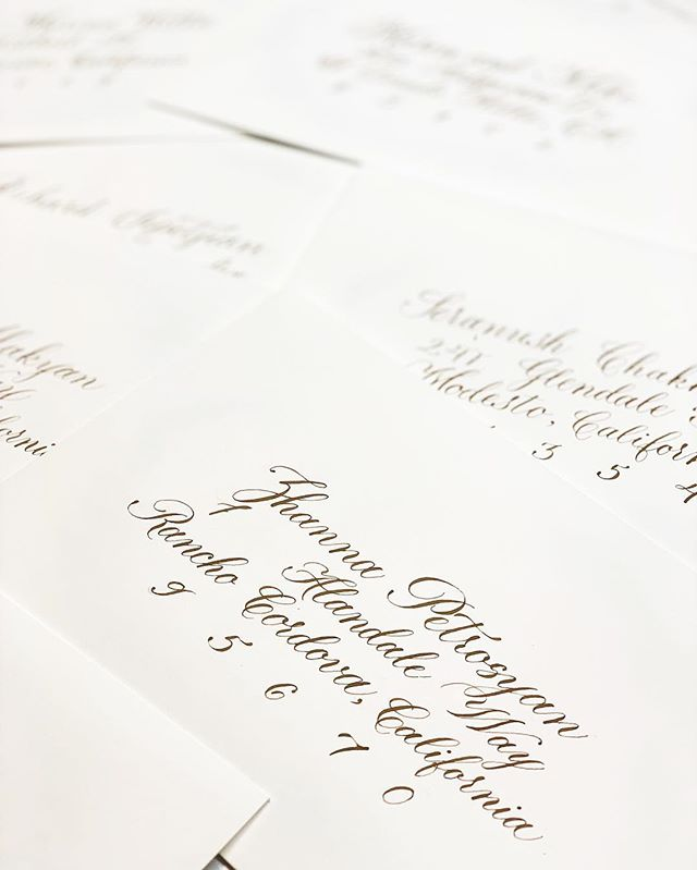 Busy season has begun & hand-addressed e
