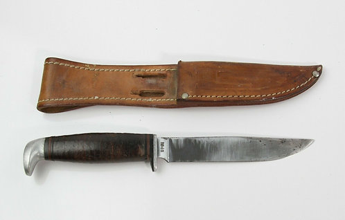 VINTAGE CASE XX 315-4 HUNTING KNIFE WITH LEATHER SHEATH