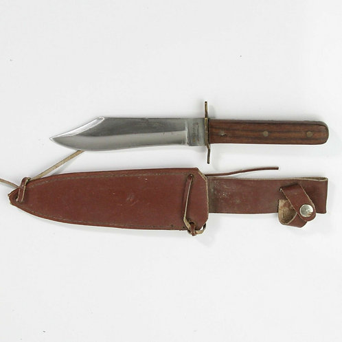 VINTAGE PARKER CUTLERY SURGICAL STEEL BOWIE HUNTING KNIFE