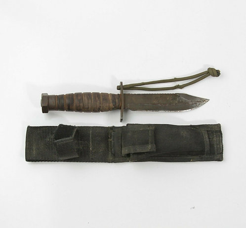 VINTAGE ONTARIO 9-87 PILOT, SURVIVAL COMBAT KNIFE WITH SHEATH