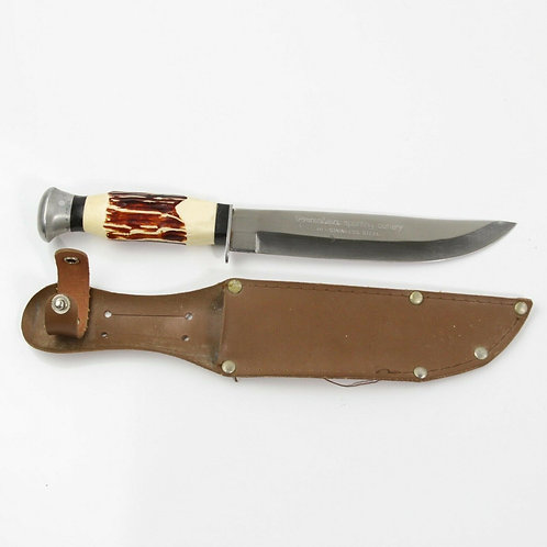VINTAGE PRECISE BRAZIL 16052 KNIFE WITH SHEATH