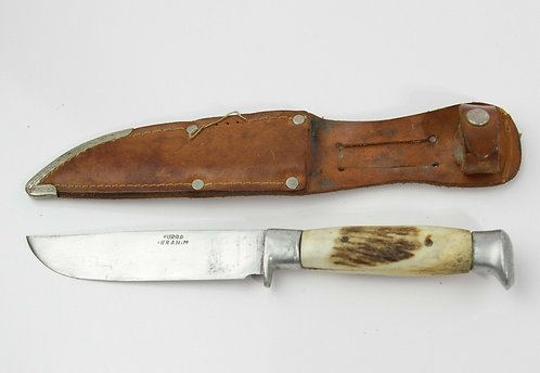 POWERFUL URSA IBRAHIM HUNTING KNIFE WITH LEATHER SHEATH
