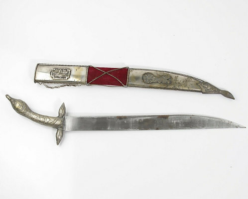 VINTAGE AUTHENTIC GREEK DAGGER 1821 WITH SCABBARD