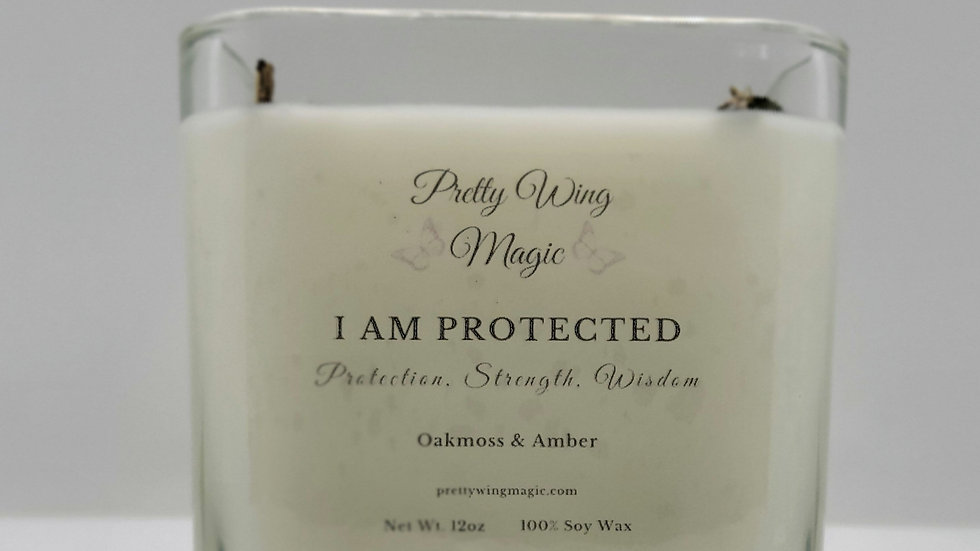 """""""I Am Protected"""" Herbal Infused Reiki Intention Candle"""