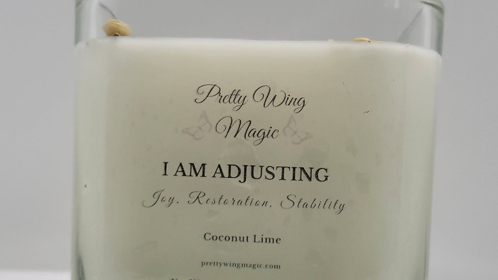 """I Am Adjusting"" Herbal Infused Reiki Intention Candle"