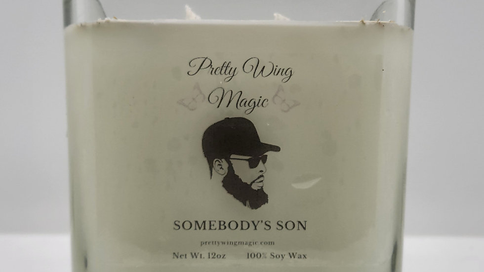 """""""Somebody's Son"""" Herbal Infused Reiki Intention Candle"""
