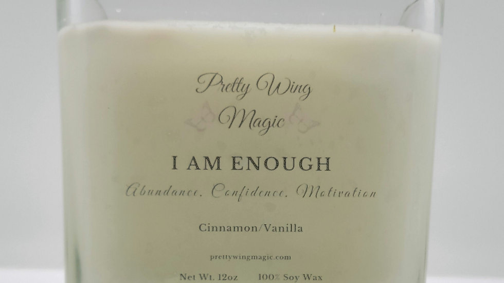 """""""I Am Enough"""" Herbal Infused Reiki Intention Candle"""